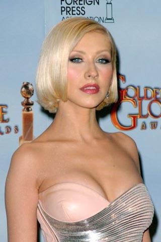 Photo de Christina Aguilera lors des 67emes Golden Globe Awards